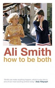 "Cover of Ali Smith's ""How to be Both"" depicting two women walking in an outdoor market on a sunny day."