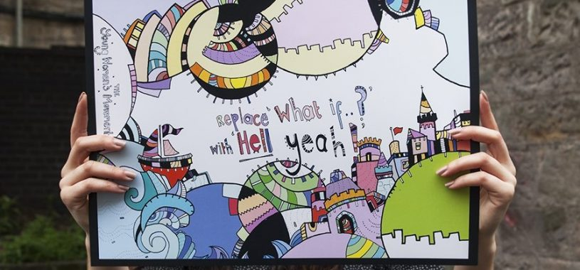 "Image of 'Replace ""What if?"" with ""Hell yeah!""' poster"