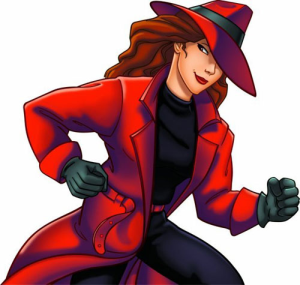 Illustration of Carmen Sandiego