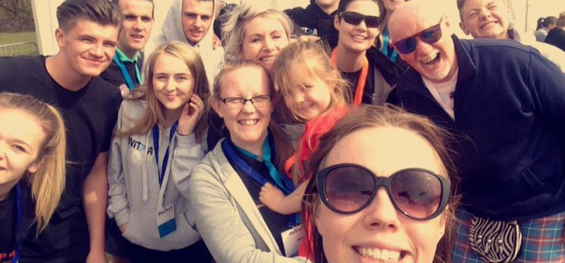 Group selfie of Rohanna Irvine and Active East participants
