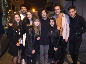 Girls against with band The 1975, who support their movement.